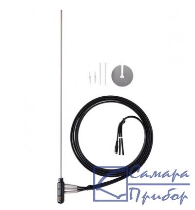 трубка Пито, длина 750 мм, диаметр 8 мм, нерж. сталь, для измерения скорости потока и температуры 0635 2042