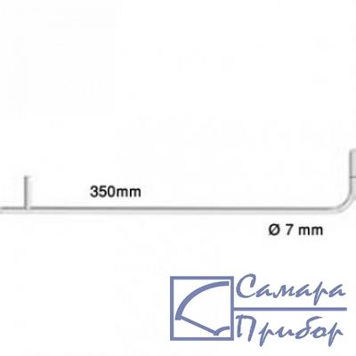 трубка Пито, длина 350 мм, диаметр 7 мм, нерж. сталь, для измерения скорости потока 0635 2145