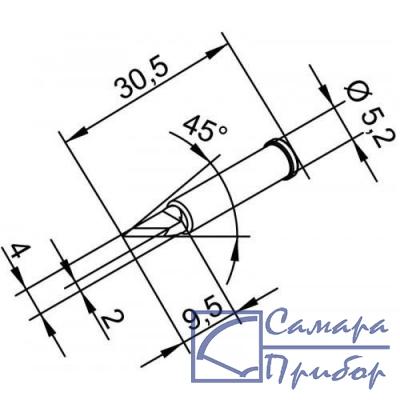 лезвие 4 мм, толщина 2 мм - для PLCC (к i-Tool, i-Tool nano) 102BDLF20