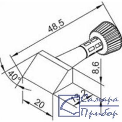 уникально массивное жало - усеченный брус 20 мм x 13,5 мм (к i-Tool) 102CDLF200