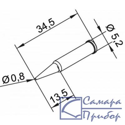 конус длинный 0,8 мм (к i-Tool, i-Tool nano) 102PDLF08L