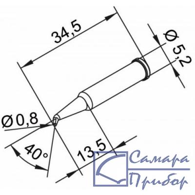 конус длинный 0,8мм, изогнутое (к i-Tool, i-Tool nano) 102SDLF08L