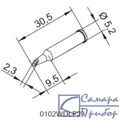 микроволна 2,3 мм (к i-Tool, i-Tool nano) 102WDLF23