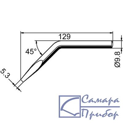 жало клин 5,3мм изогнутое (к ERSA-150) 152JD