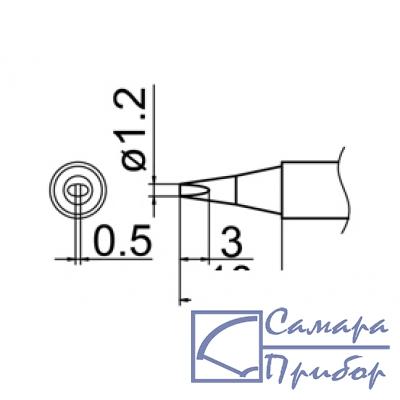 паяльная сменная композитная головка для станций FX-950/ FX-951/FX-952/FM-203 T12-D12