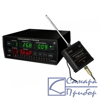 стационарный восьмиканальный измеритель скорости потока воздуха (измерительный блок) ТТМ-2/8-06-16А