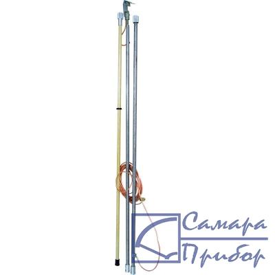 заземление переносное линейное с металлическими штангами ЗПЛШМ-110-220 S-35 (фазный зажим Ф3-9)