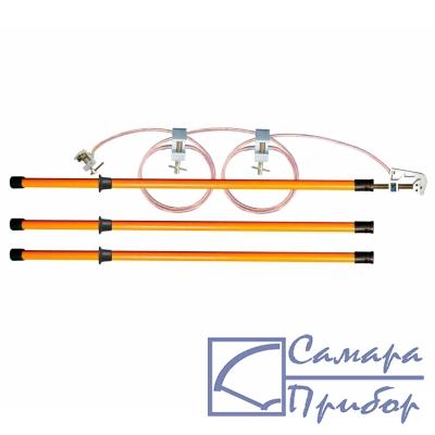 заземление переносное подстанционное с тремя штангами ЗПП-15-3/3-35